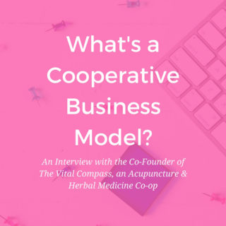 Thinking of creating an acupuncture business partnership with a colleague? Consider the Cooperative Business Model. Interview with the co-founder of a Co-op Acupuncture Practice - www.ModernAcu.com