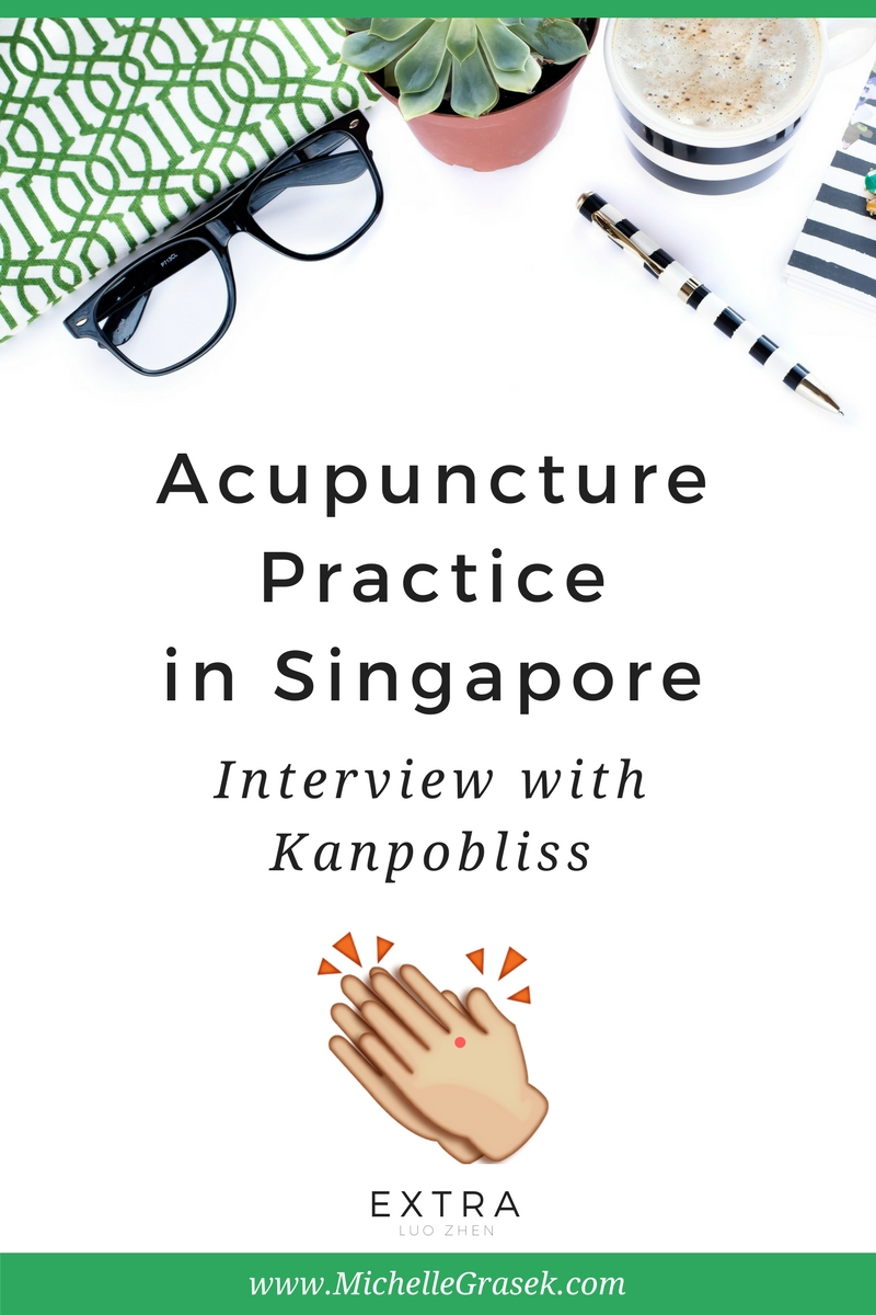 What's it like to practice acupuncture in Singapore? Acupuncturist Jun Negoro, creator of the amazing Instagram account @Kanpobliss, shares all! www.MichelleGrasek.com