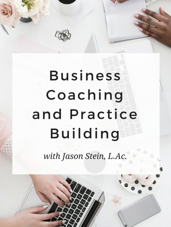 Group coaching for acupuncturists: your questions answered. Grow your practice with accountability and expertise. Interview with Jason Stein, LAc - www.michellegrasek.com